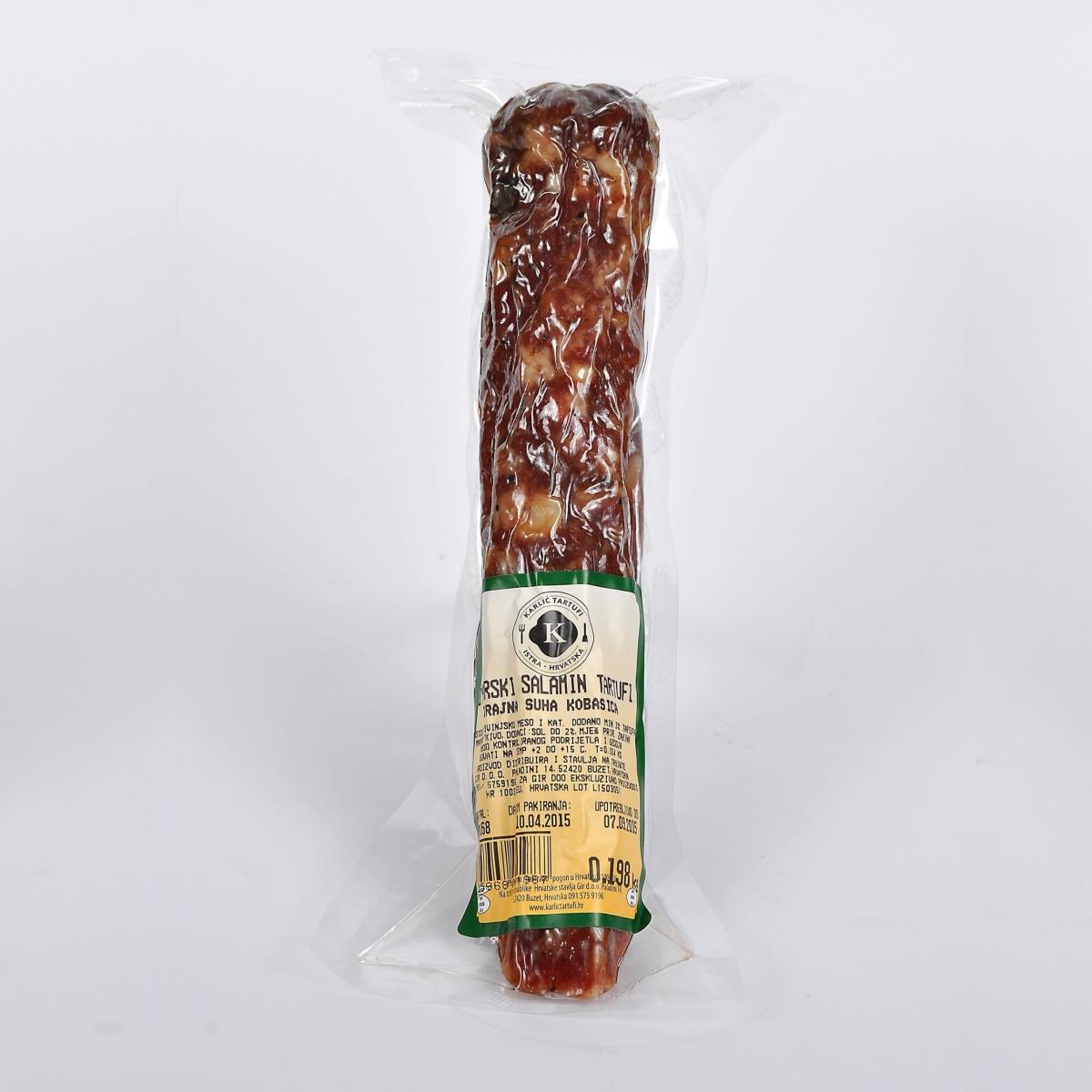 Istrische Salami mit schwarzen Trüffel