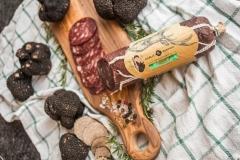 Hirschsalami mit schwarzen Trüffeln